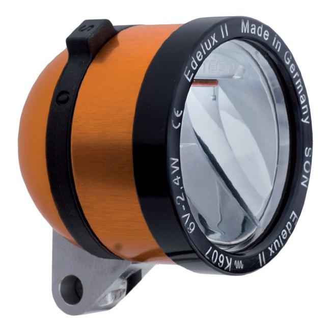 SON Edelux II LED Front Light - orange anodized