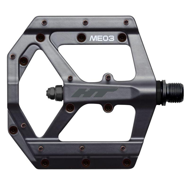 HT ME03 EVO+ Flat Pedal Magnesium - stealth black