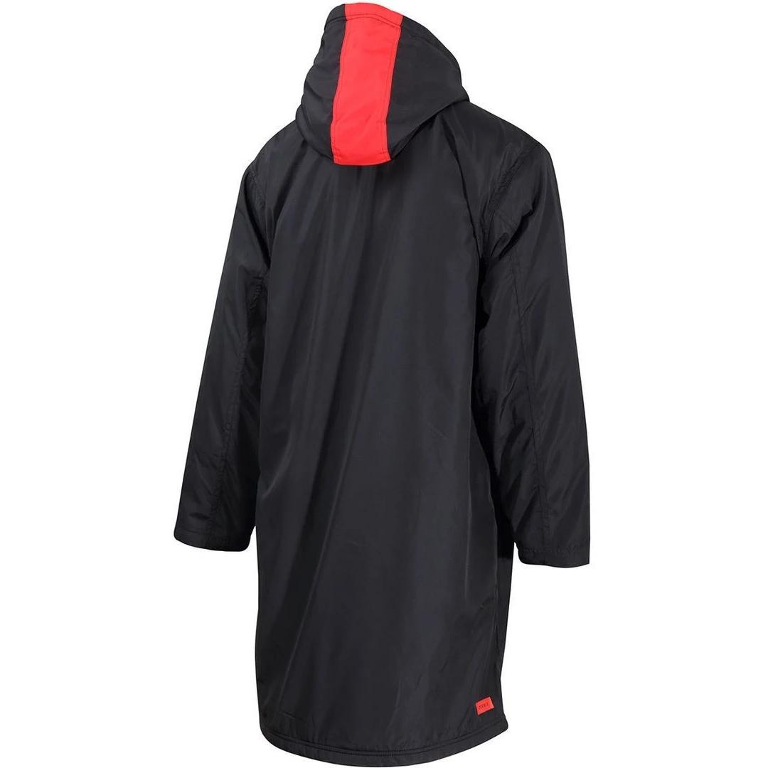 Image of Zone3 Polar Fleece Parka Robe Jacket - Black/Grey