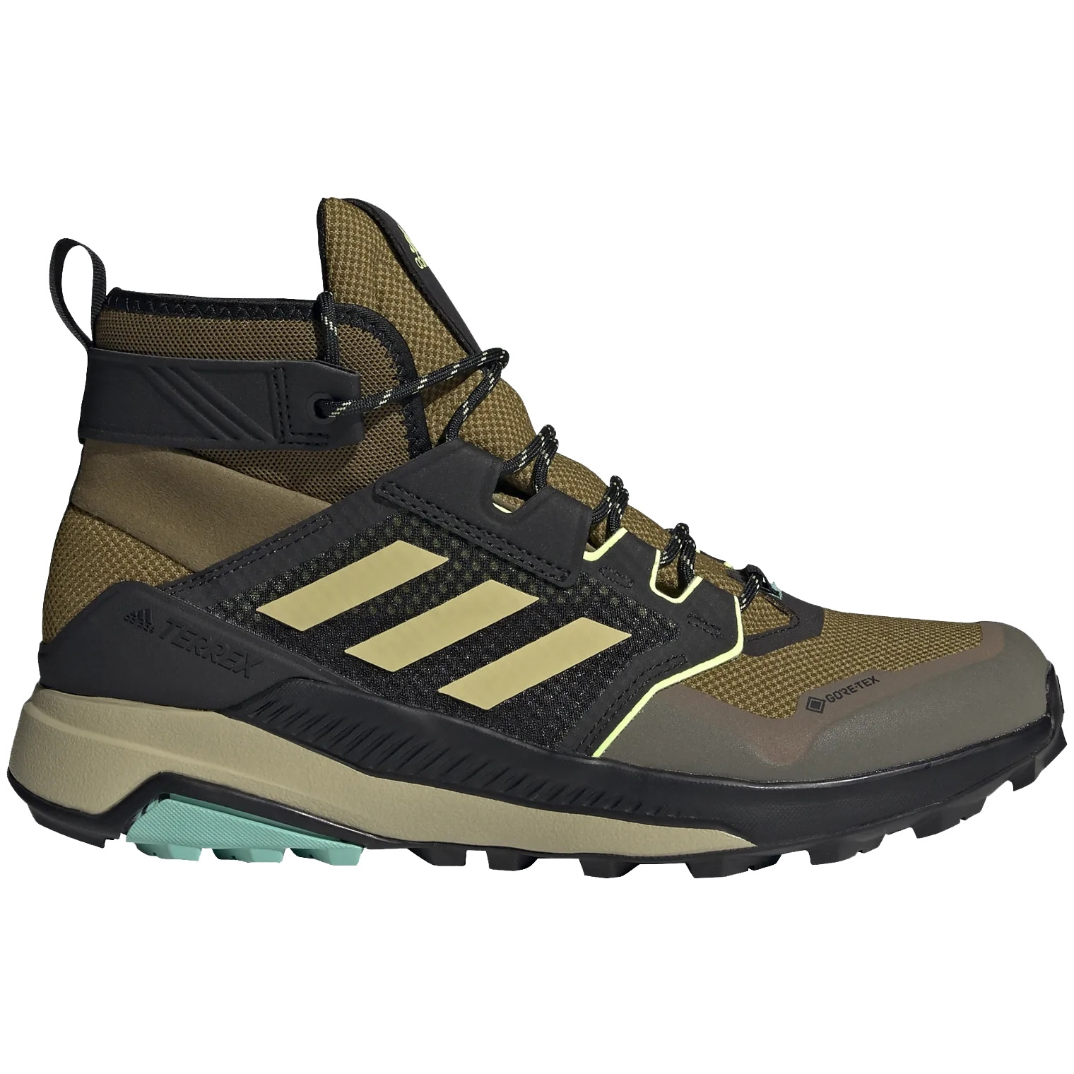 adidas Männer TERREX Trailmaker Mid GORE-TEX Wanderschuhe - wild moss/halo gold/hi-res yellow FZ2511