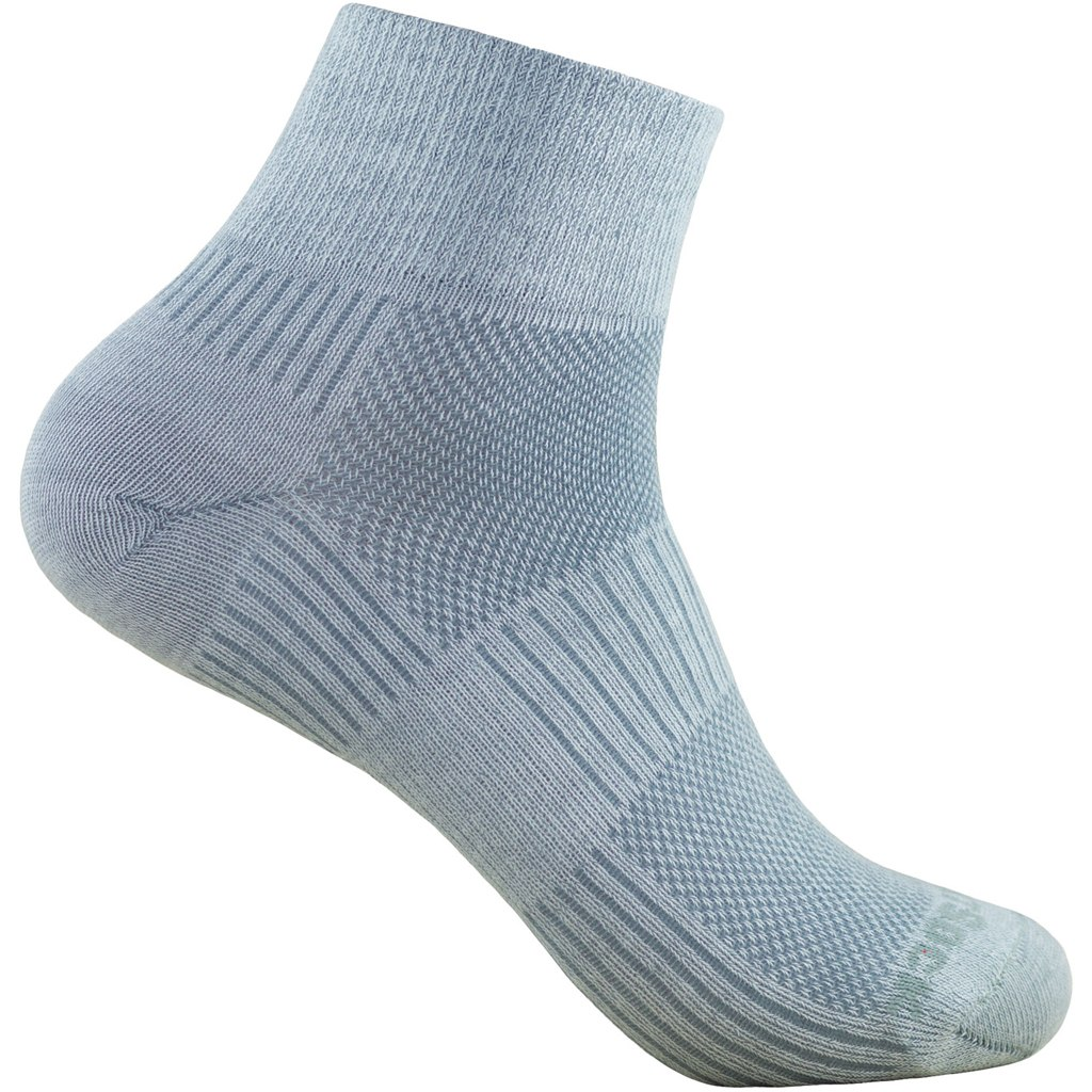 WRIGHTSOCK Coolmesh II Quarter Double Layer Socks - light grey - 805-05