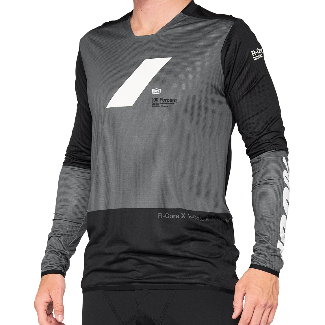 100% R-Core X Maillot - charcoal/black
