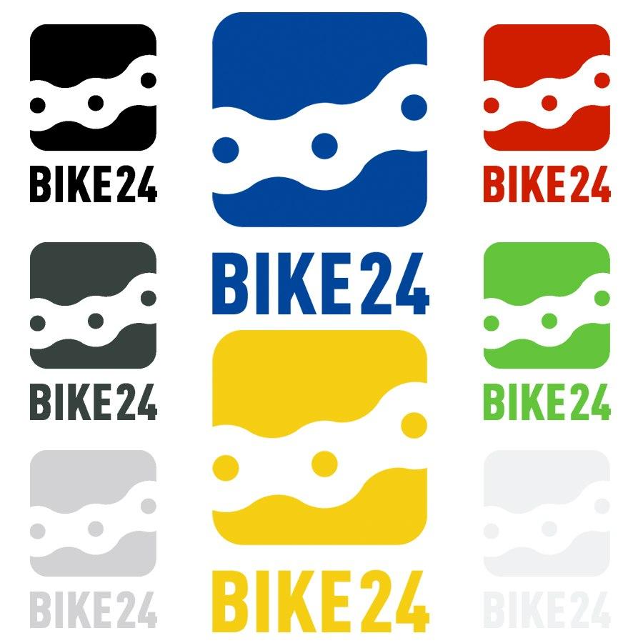 BIKE24 Logo Sticker - 29x40mm