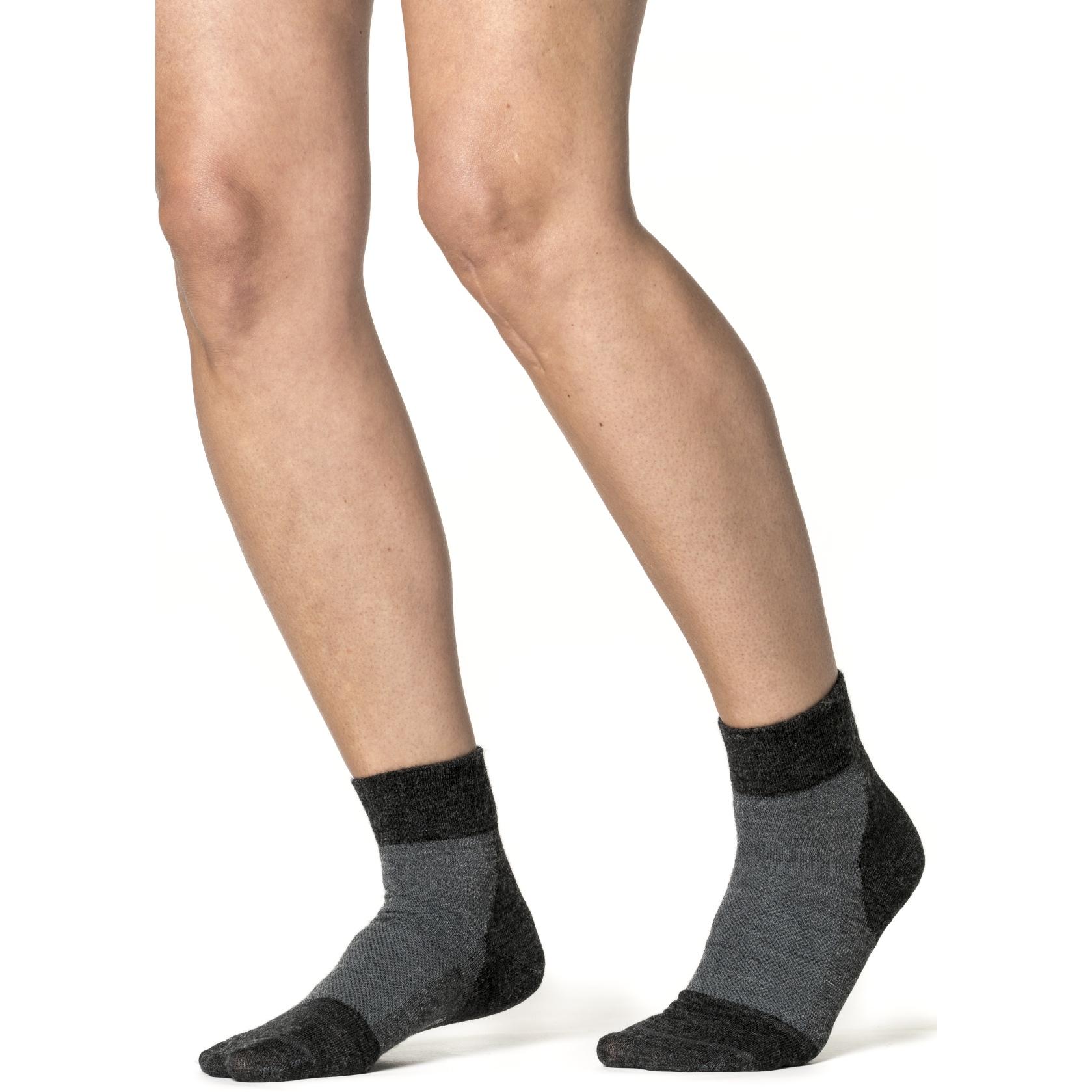 Bild von Woolpower Skilled Liner Short Socken - dark grey-grey