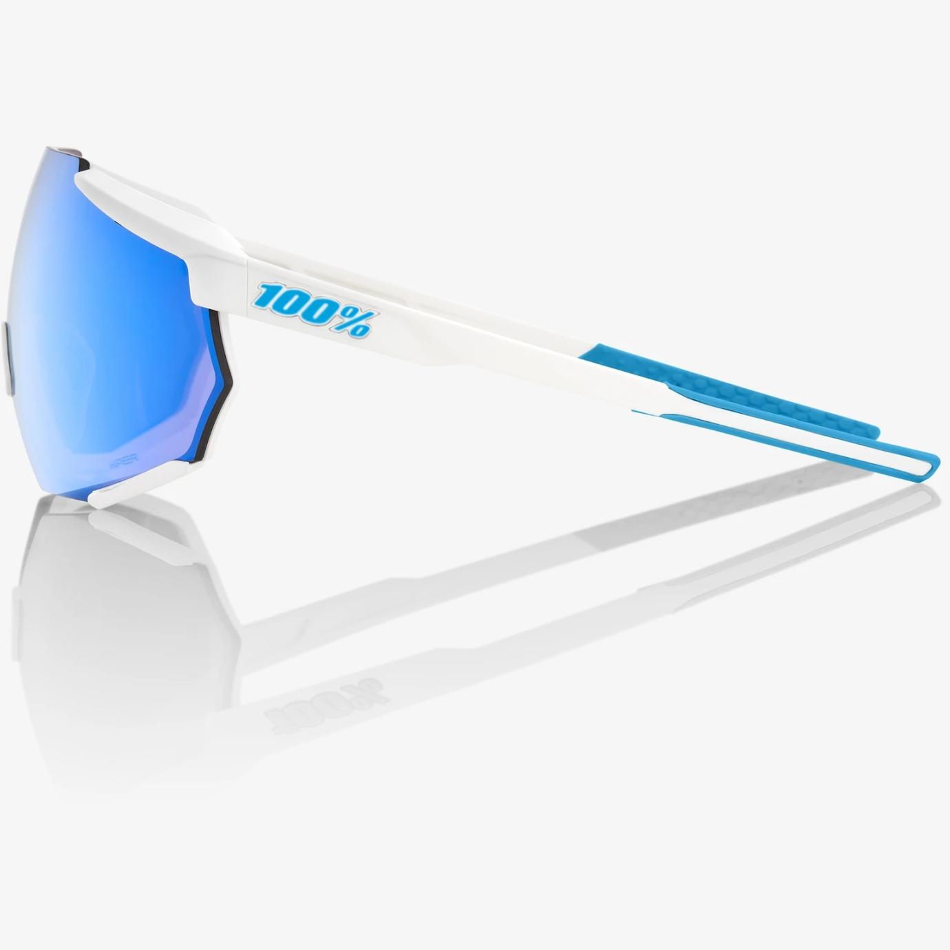 Imagen de 100% Racetrap HiPER Mirror Gafas - Movistar Team White/Blue Multilayer + Clear
