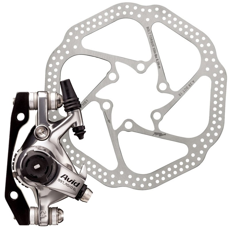 SRAM BB7 Road SL Mechanical Disc Brake Caliper (CPS) - incl. Adapter and Disc