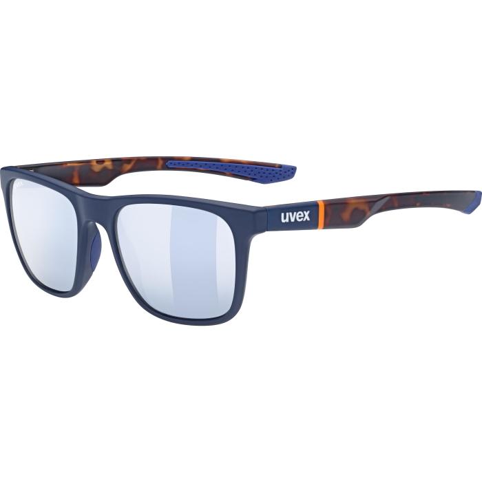 Uvex lgl 42 Glasses - blue mat havanna - litemirror silver