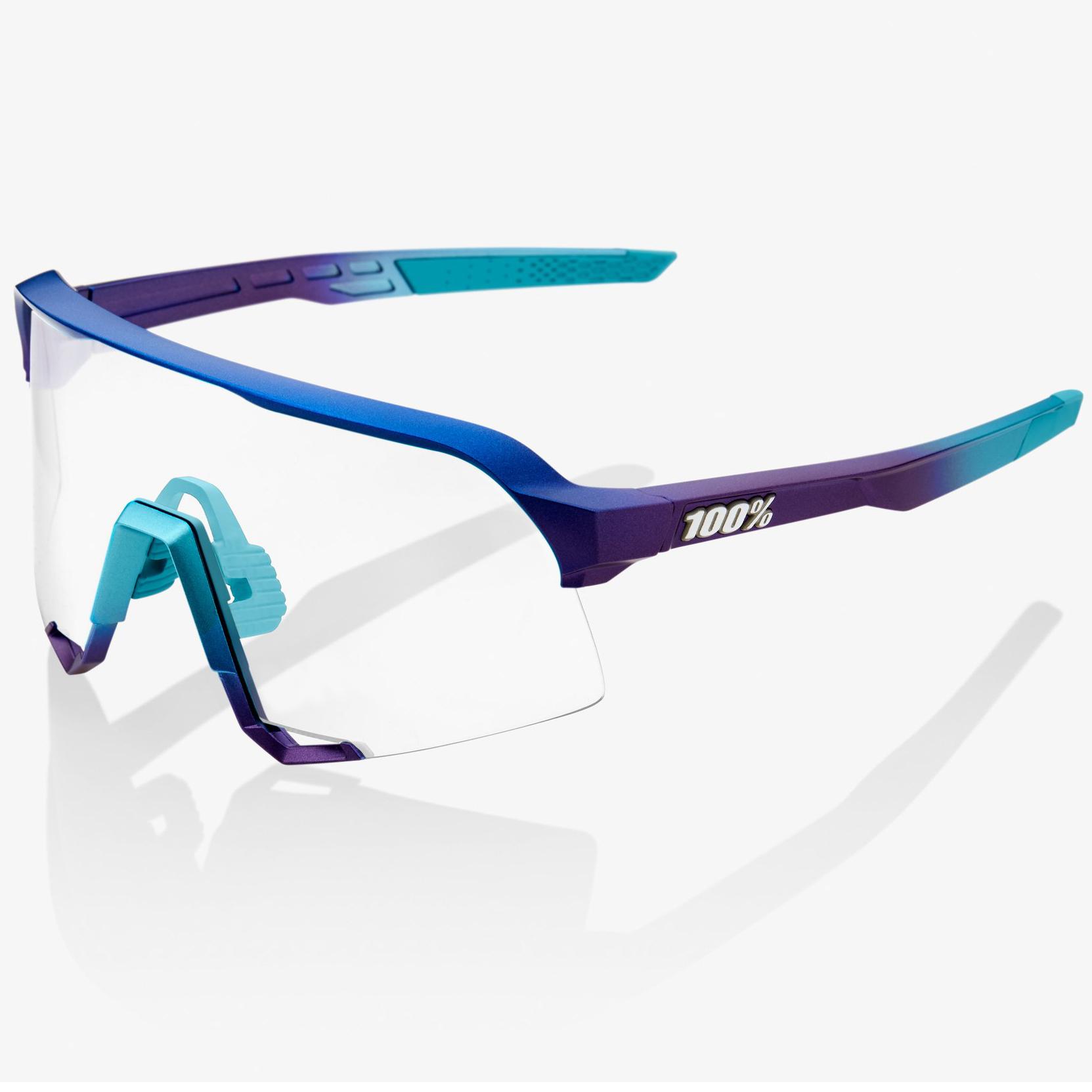 Imagen de 100% S3 Mirror Gafas - Matte Metallic Into the Fade/Blue Topaz Multilayer + Clear