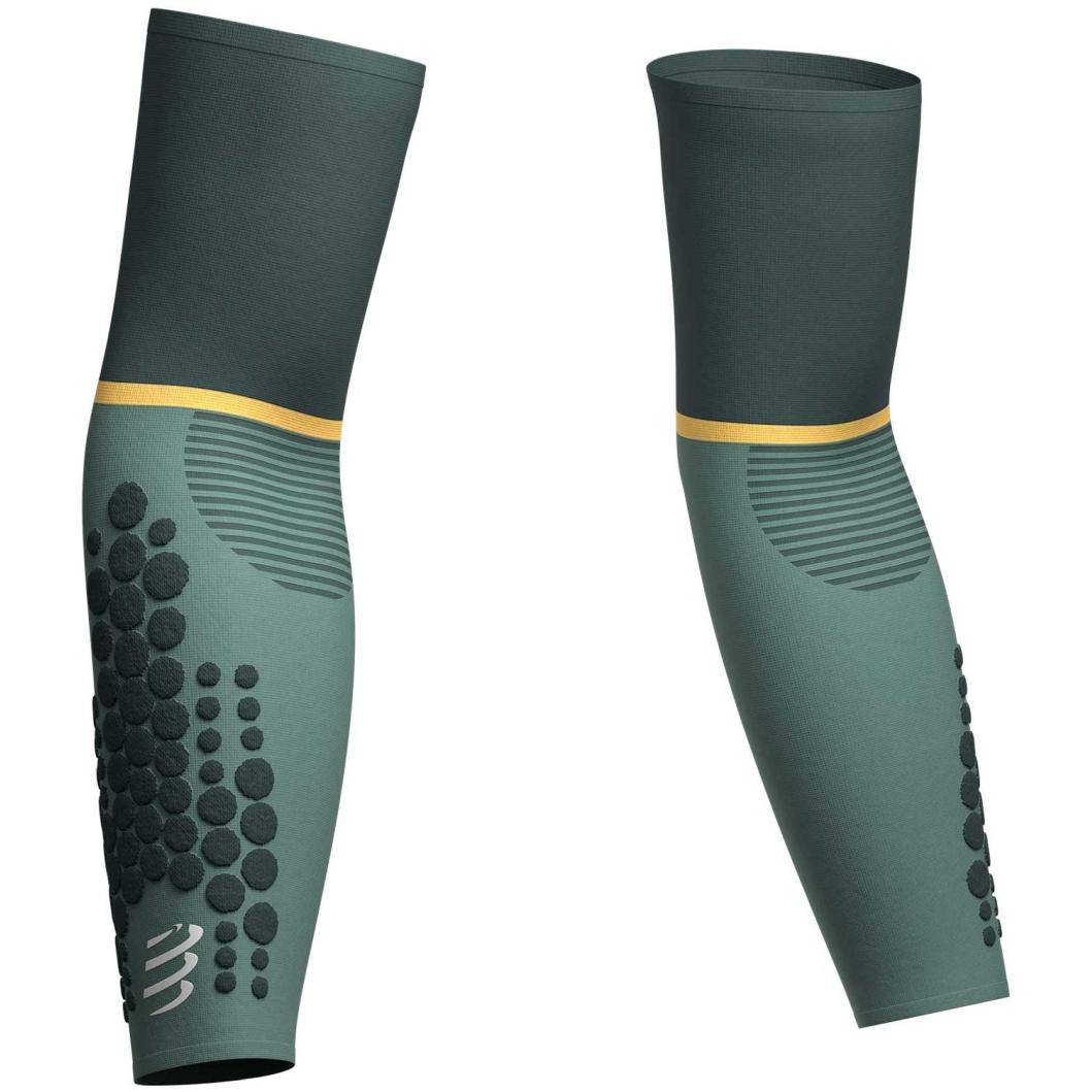Compressport ArmForce Ultralight Compression Sleeves - green gabels