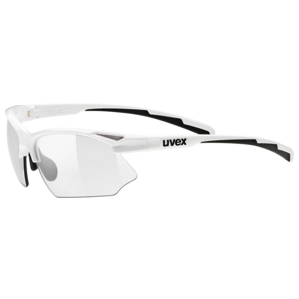 Uvex sportstyle 802 V Glasses - white/variomatic smoke