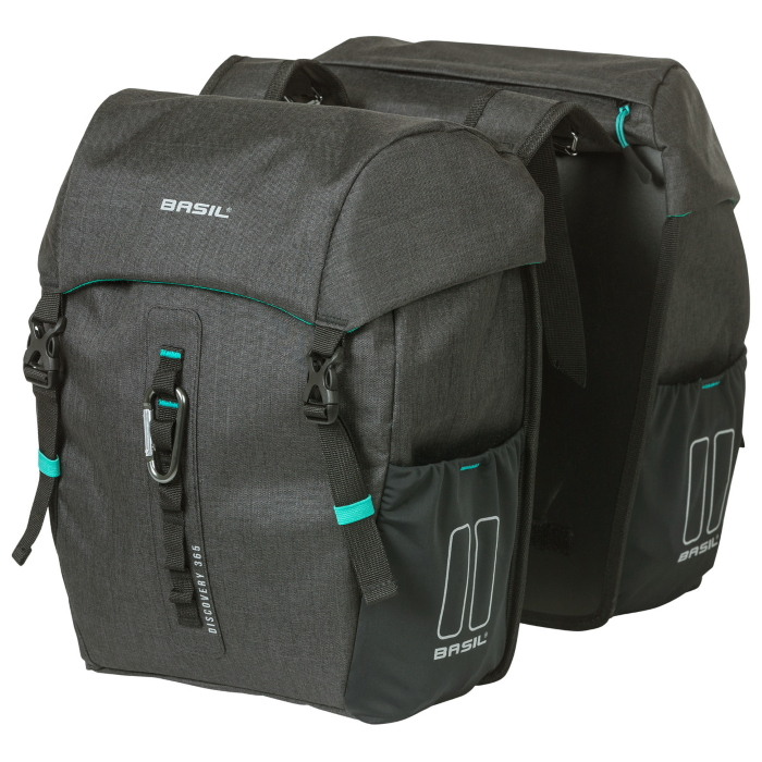 Basil Discovery 365D Double Bag Fahrradtasche - black melee