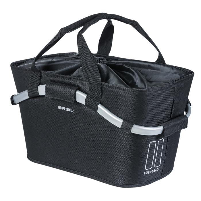 Basil Carry All Rear Basket - black