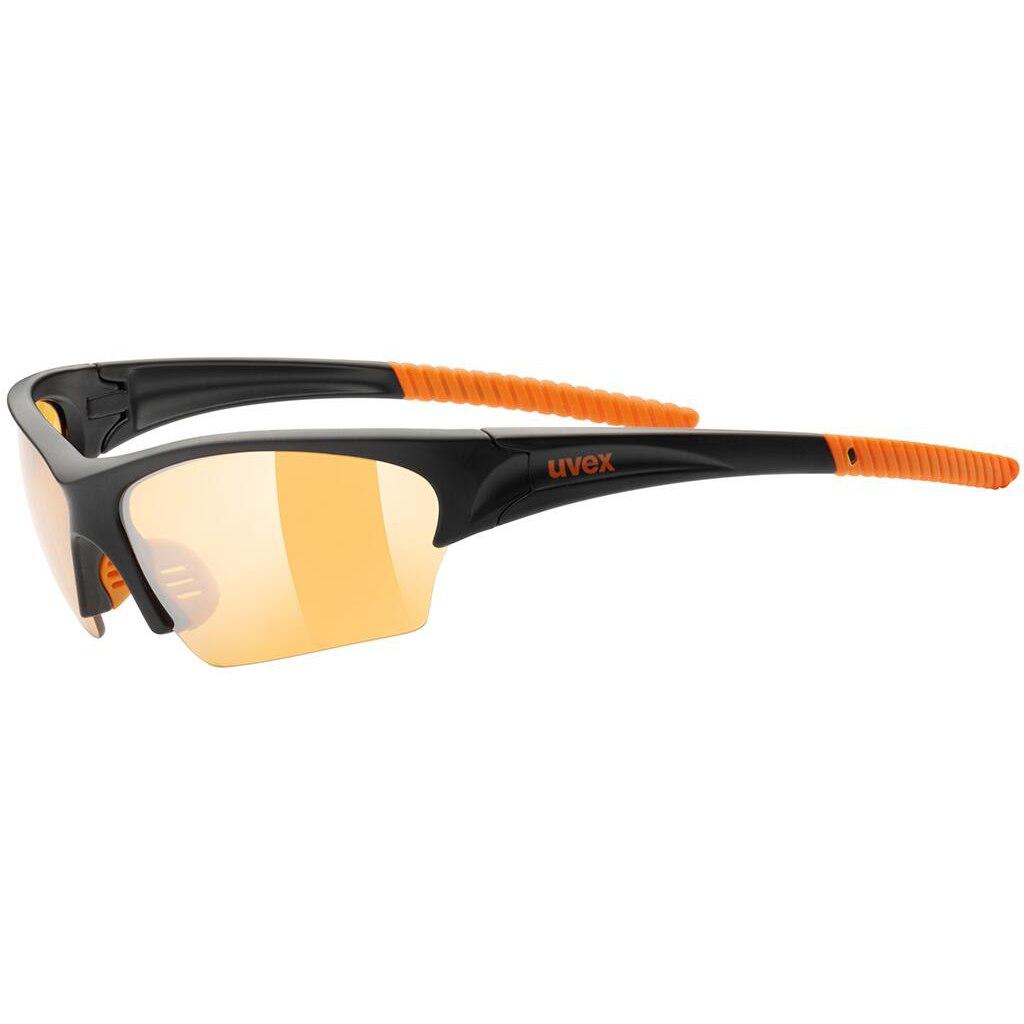 Uvex sunsation - black mat orange/litemirror orange Glasses