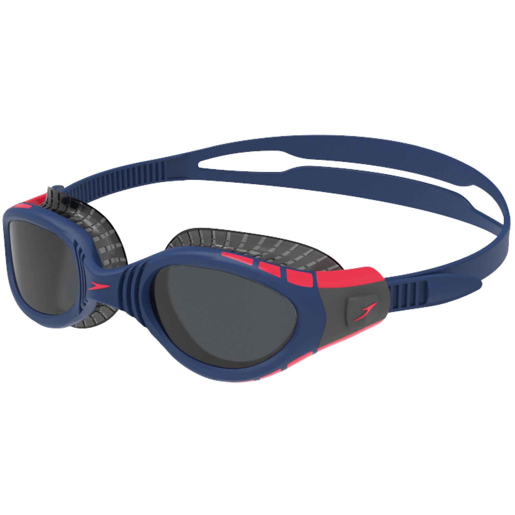 Speedo Futura Biofuse Flexiseal Triathlon Navy/Phoenix Red/Charcoal Schwimmbrille