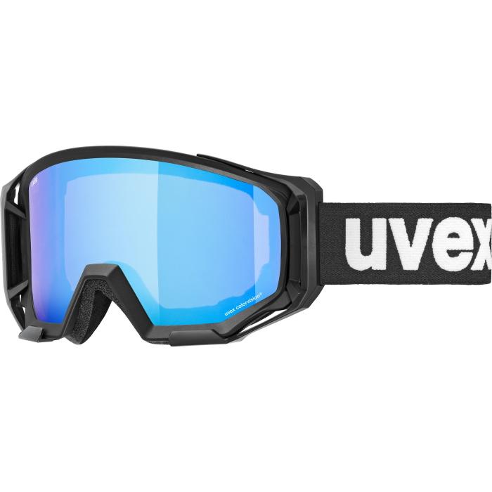 Uvex athletic CV Brille - black mat - mirror blue/colorvision green