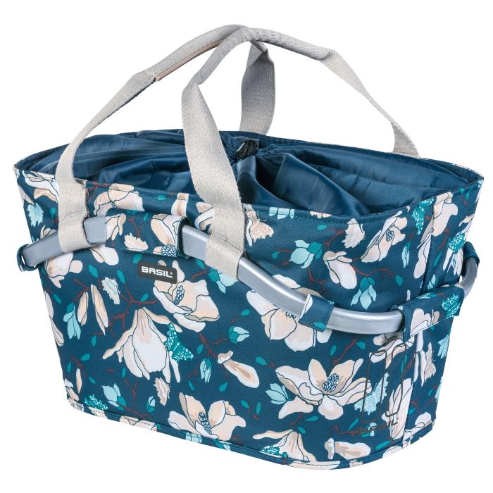 Basil Magnolia Carry All Rear Basket - blue