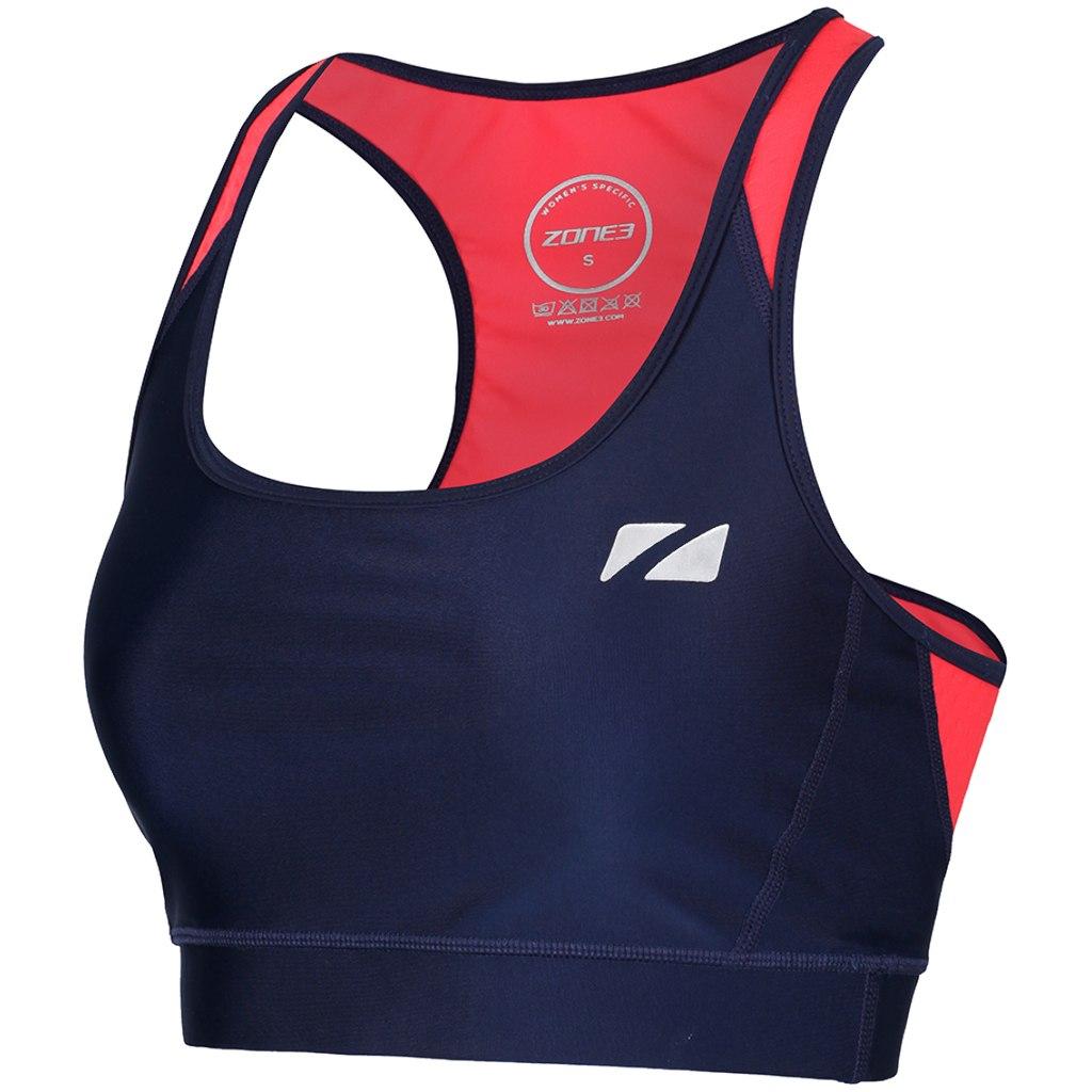 Zone3 Aquaflo Plus Tri Bra Damen Triathlon-Oberteil - navy/coral