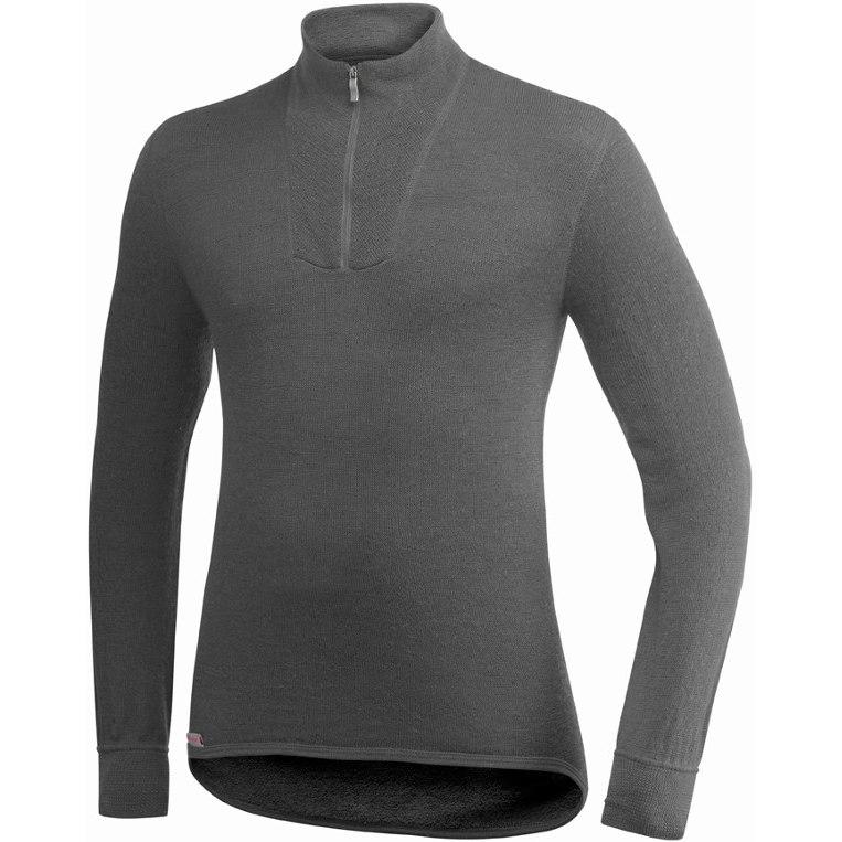 Woolpower Zip Turtleneck 200 Unisex Undershirt - grey
