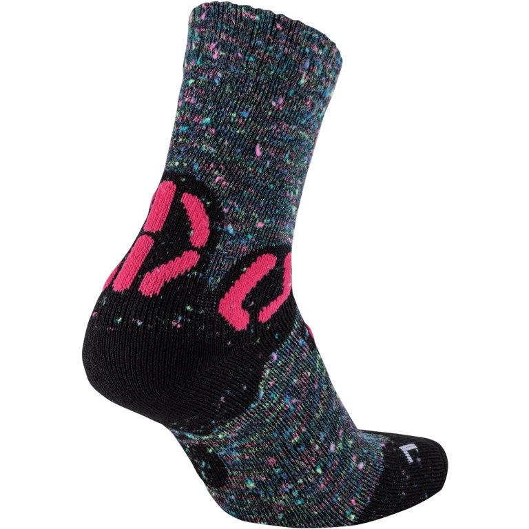Image of UYN Junior Trekking Explorer Socks - Grey Multicolor/Pink