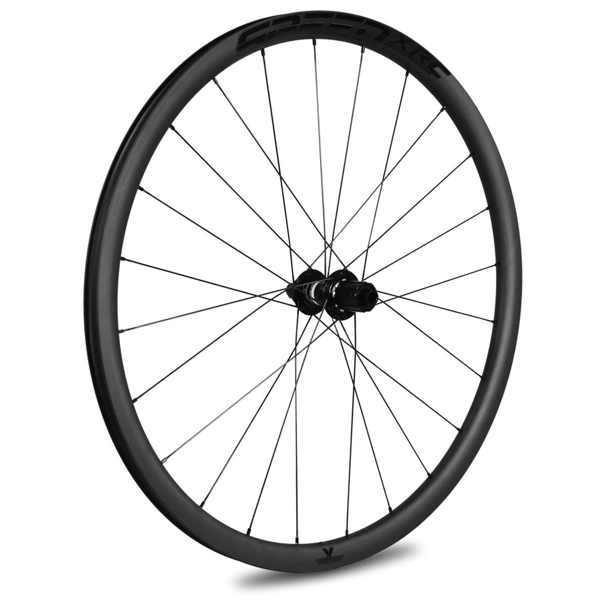 Veltec Speed XCR 30 Disc Carbon Hinterrad - Drahtreifen - 12x142mm - SRAM XDR - schwarz mit schwarzen Decals