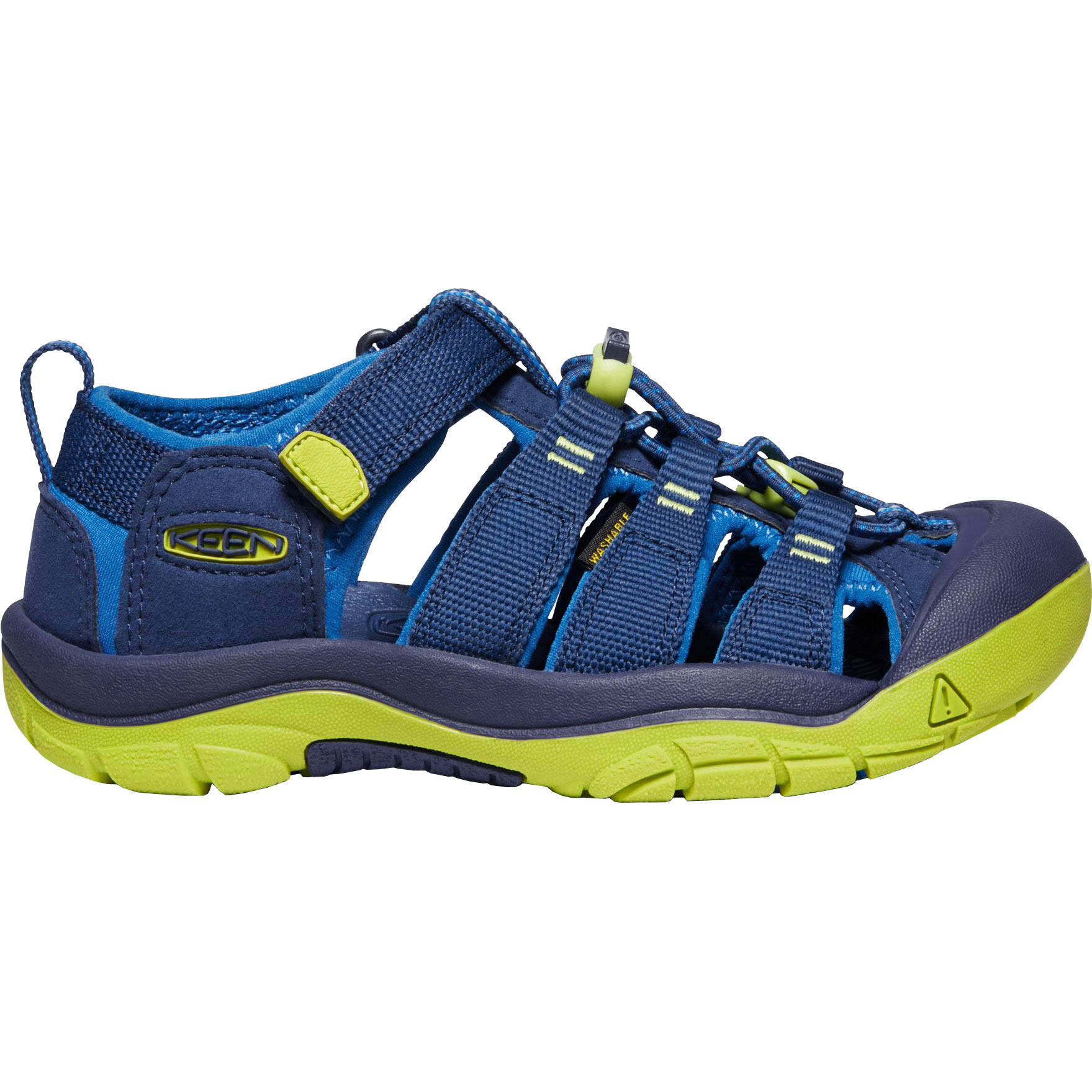 KEEN Newport H2 Jugend-Sandale - Blue Depths / Chartreuse