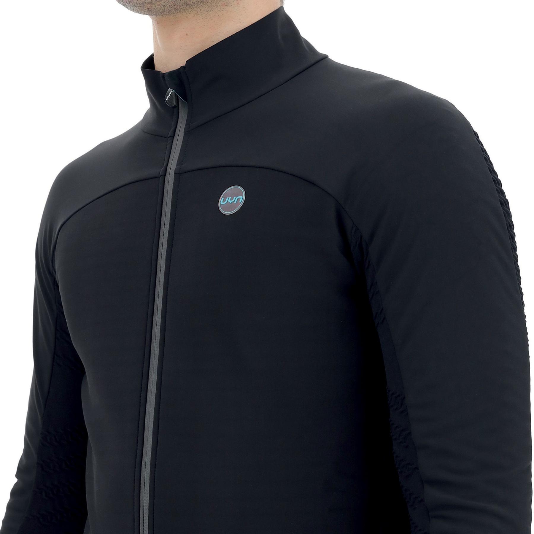 Image of UYN Biking Coreshell Aerofit Jacket - Black/Black/Turquoise