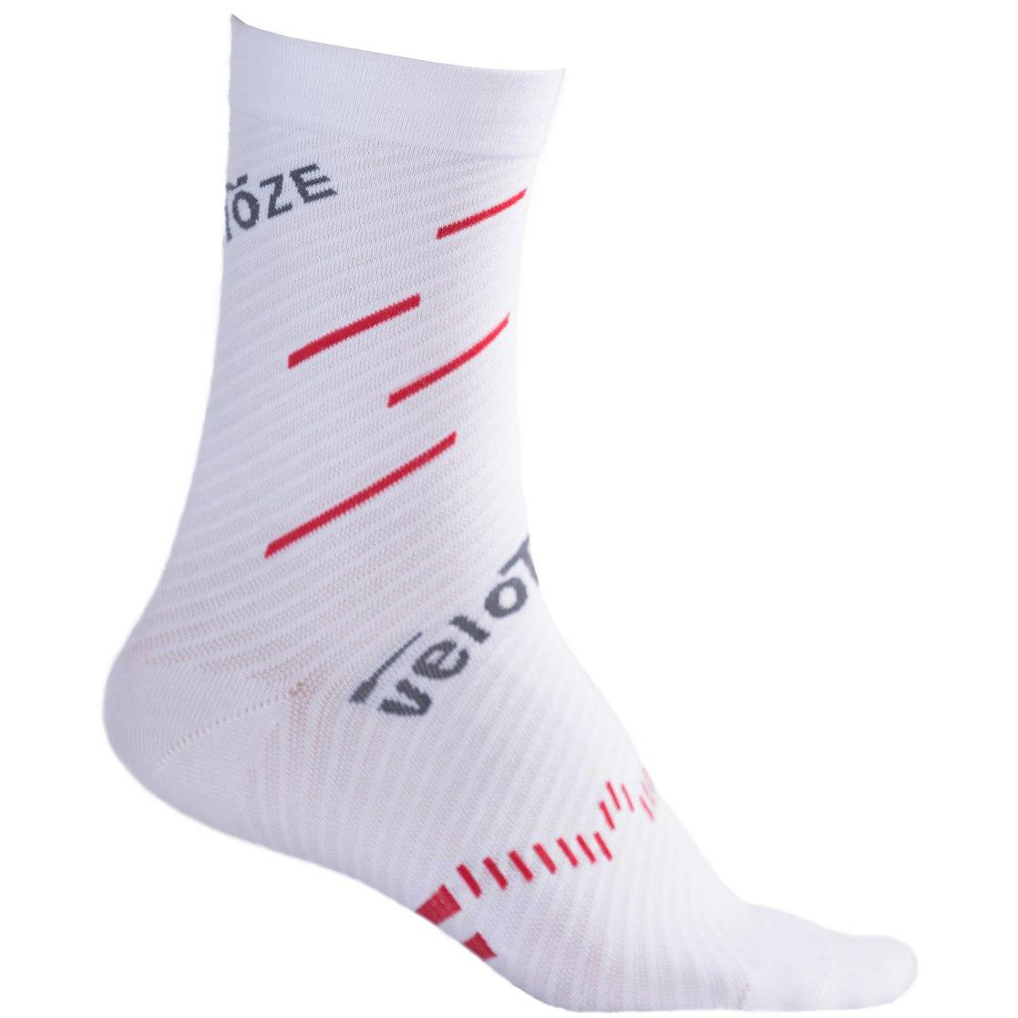 veloToze Coolmax Socks - White/Red