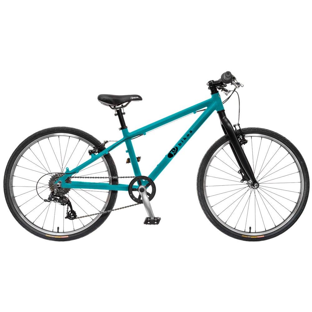 KUbikes 24L TOUR 8-Speed Kids Bike - turquoise glitter