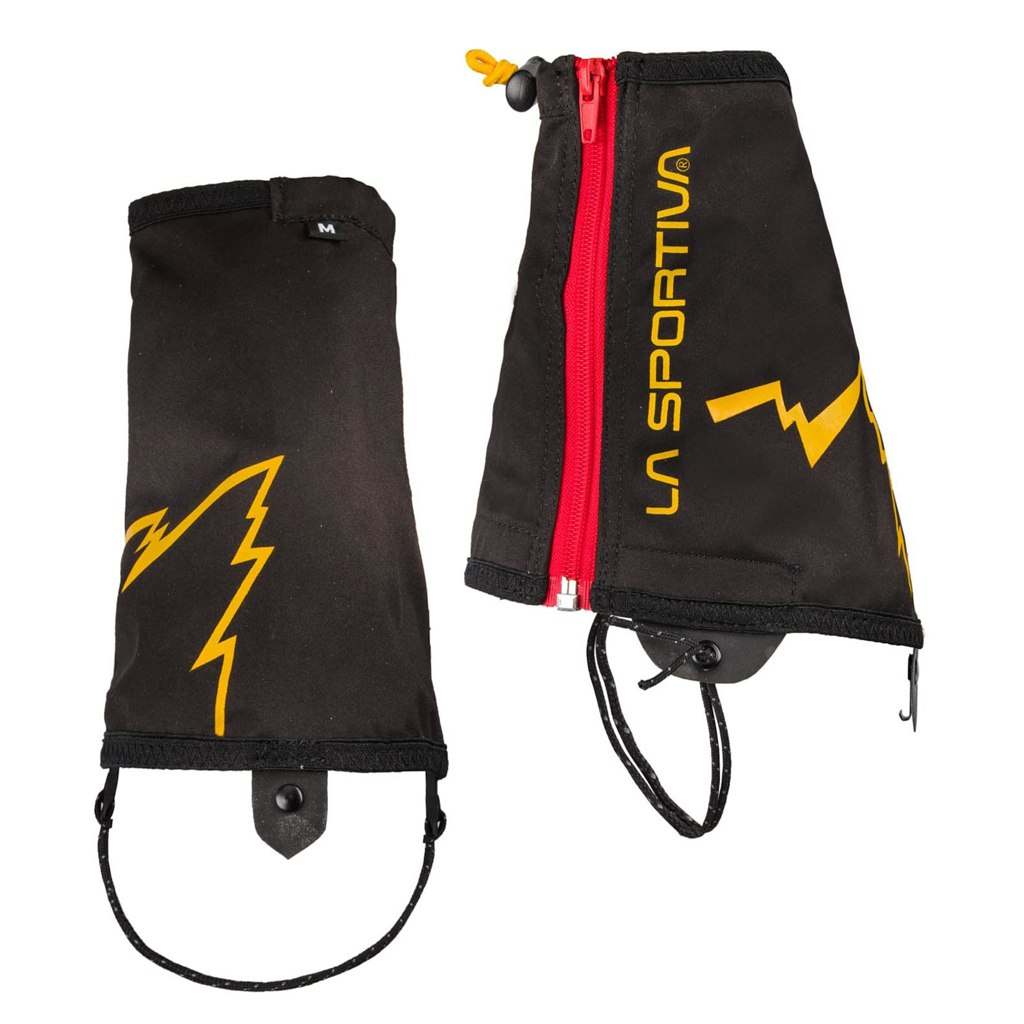 La Sportiva Winter Running Gaiters - Black/Yellow