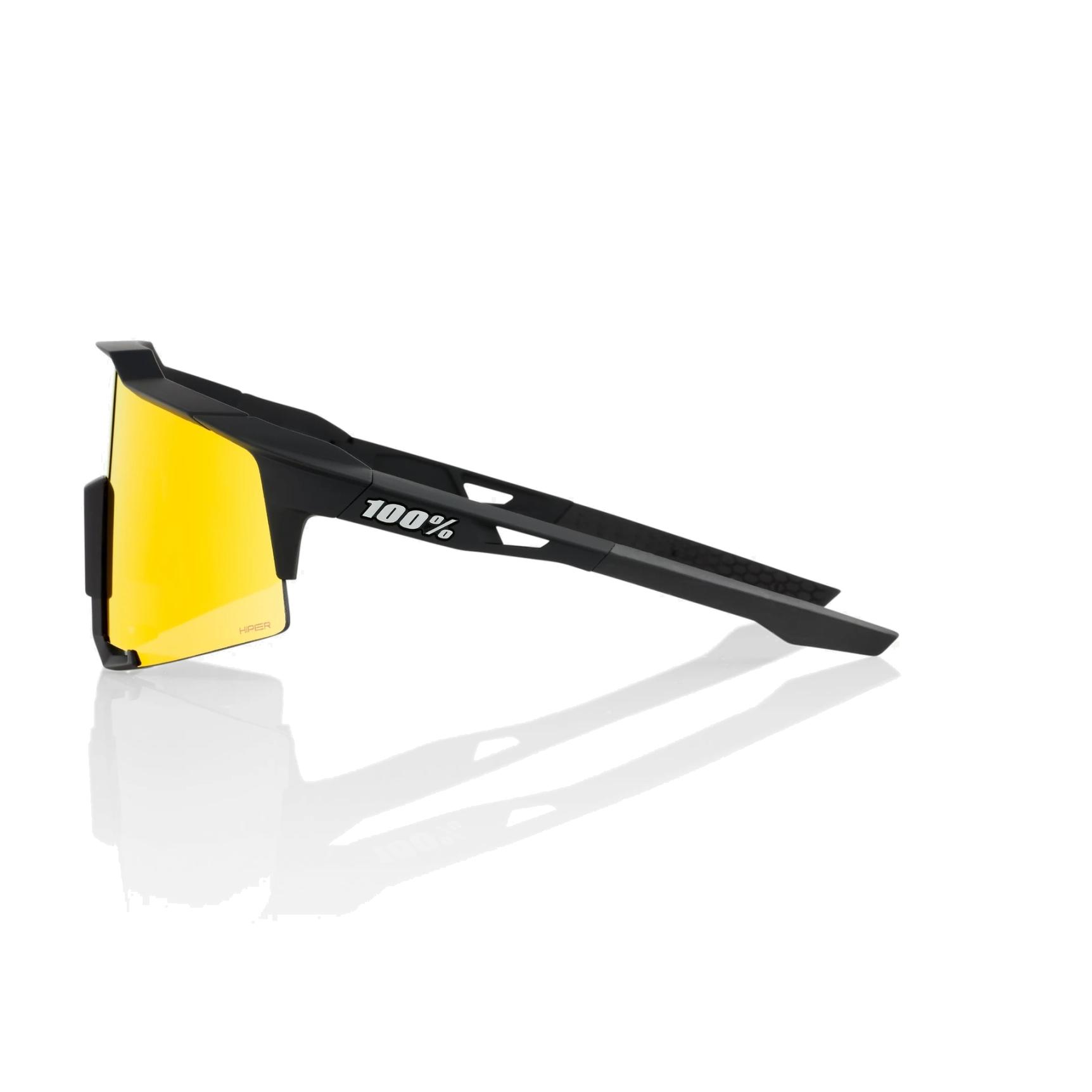 Imagen de 100% Speedcraft - Tall - HiPER Mirror Gafas - Soft Tact Black/Red Multilayer Mirror + Clear