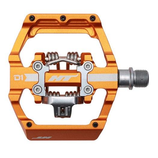 Produktbild von HT D1 DUO Klickpedal / Flatpedal - orange