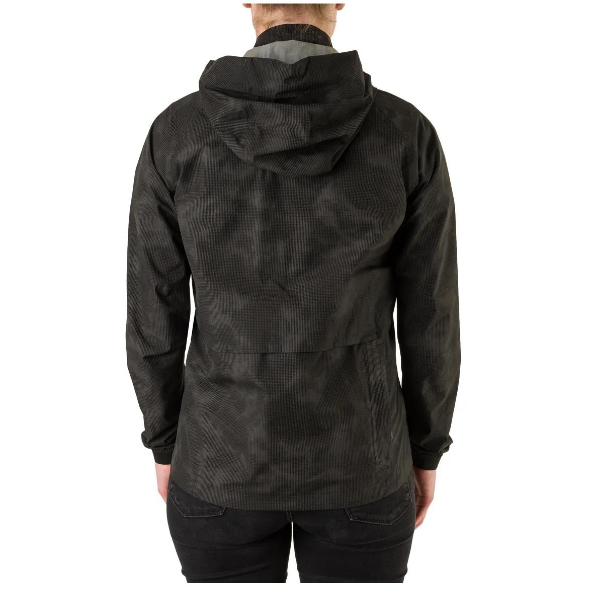 Image of AGU Commuter Compact Rain Jacket Women - reflection black