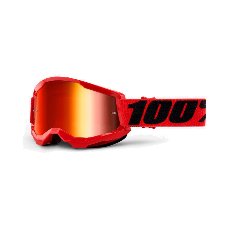 100% Strata 2 Goggle Mirror Lens Gafas - Red
