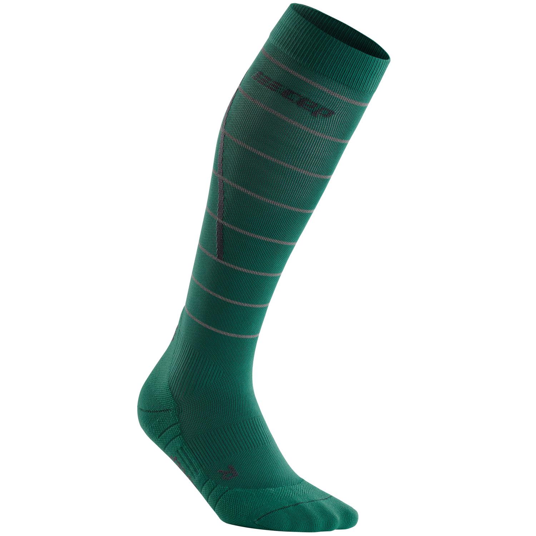 CEP Reflective Compression Socks - green
