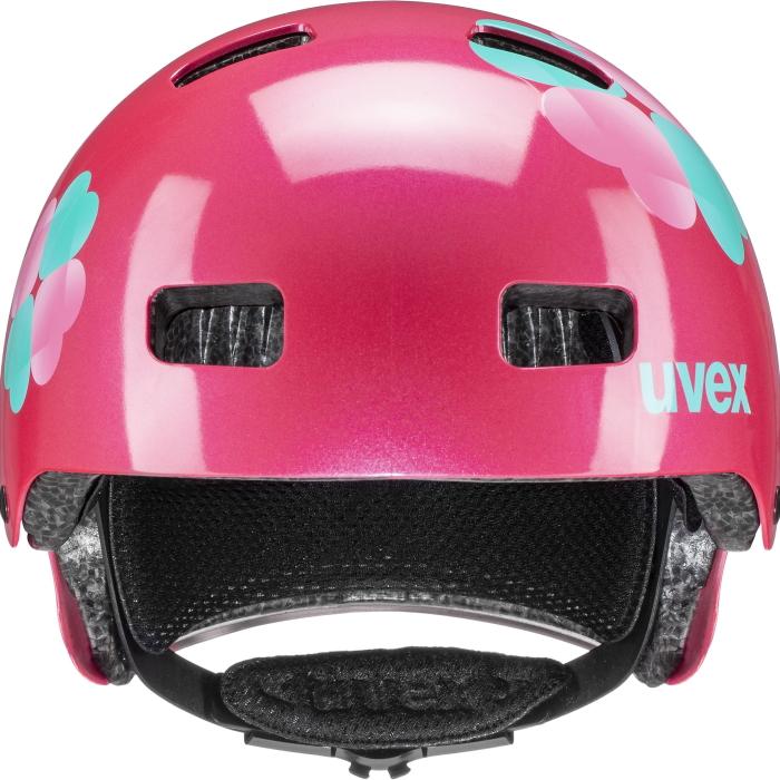 Image of Uvex kid 3 Kids Helmet - pink flower