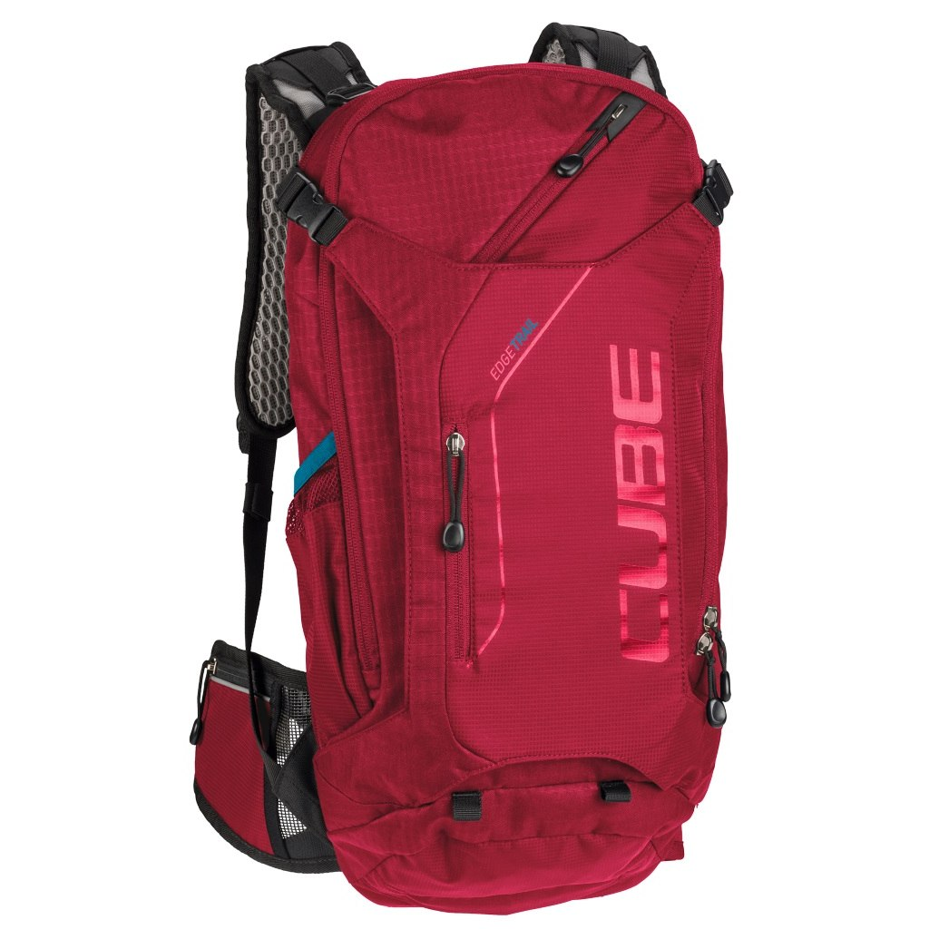 Foto de CUBE Backpack EDGE Trail - red