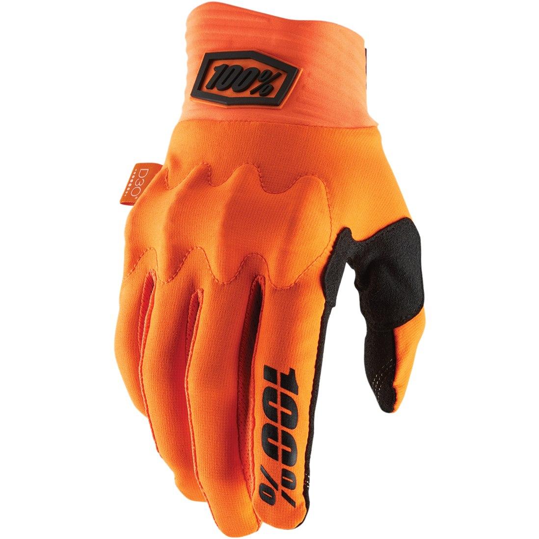 100% Cognito D30 Glove - Fluo Orange/Black