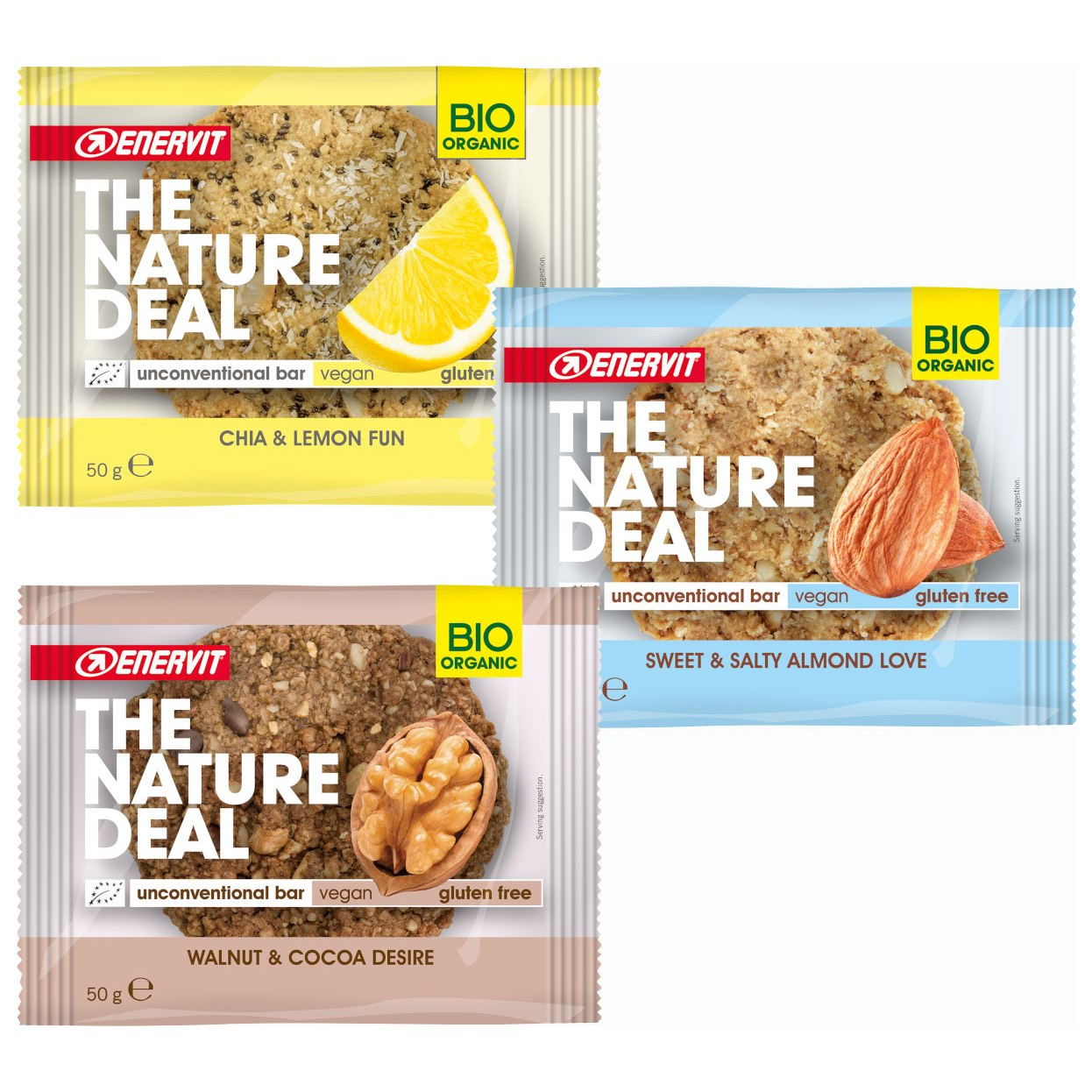Enervit ORGANIC The Nature Deal Unconventional Bar - Raw Food Cookie - 50g