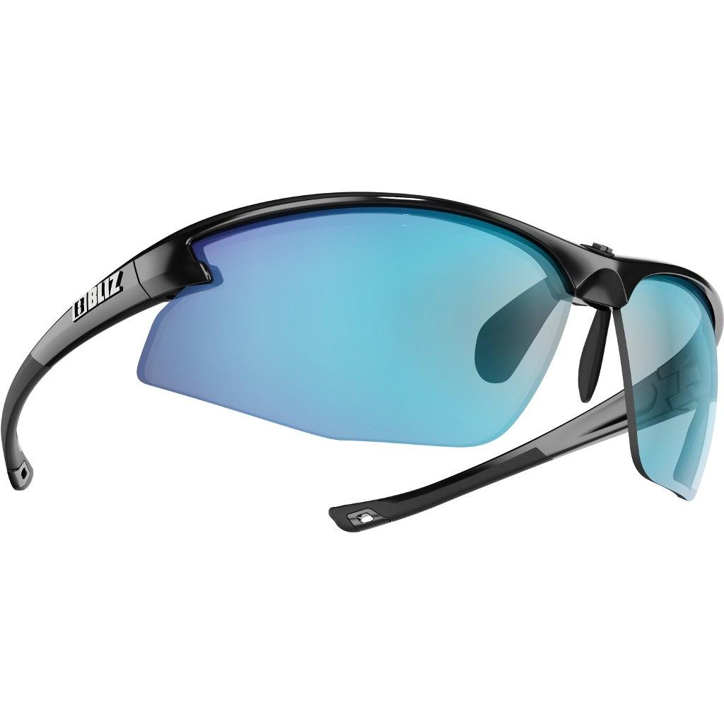 Bliz Motion Shiny Black / Smoke with Blue Multi Glasses