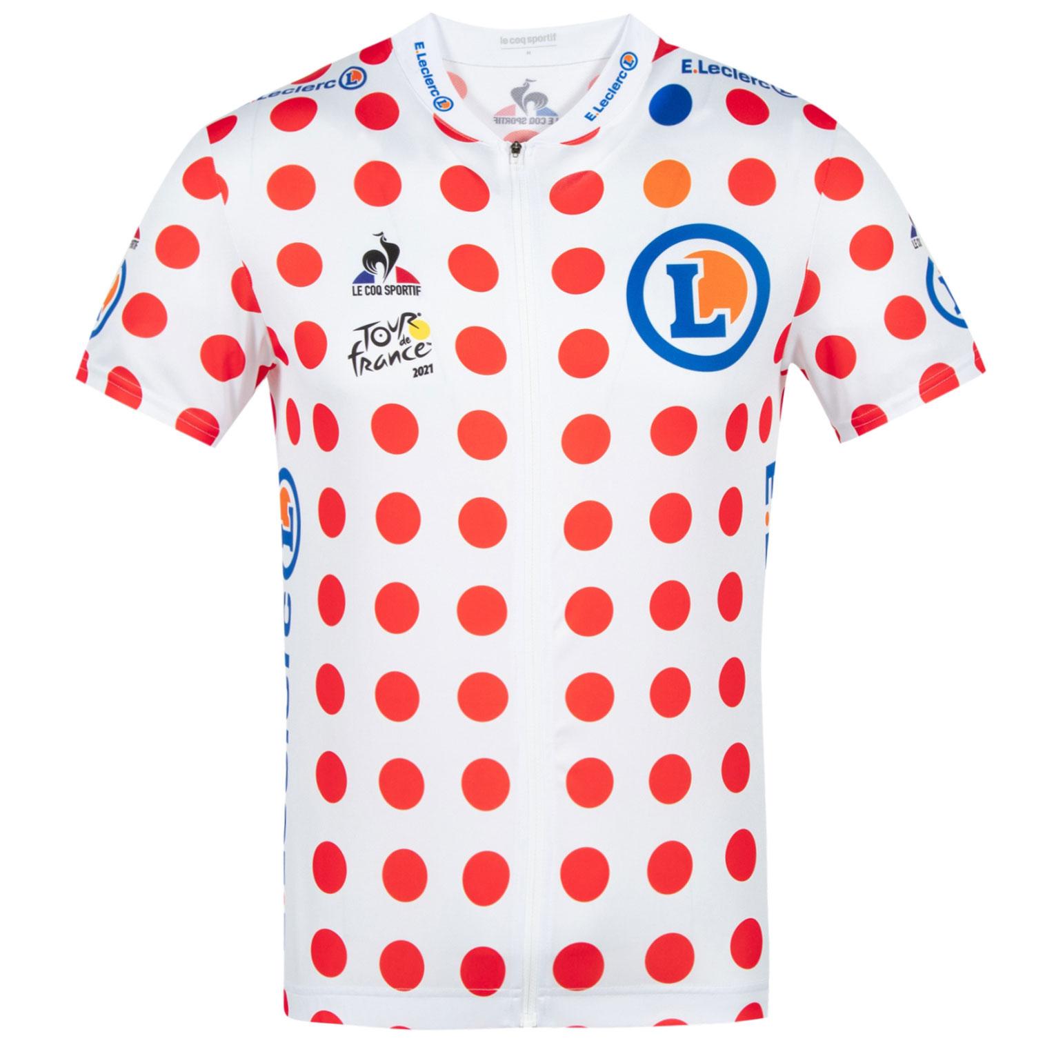 Le Coq Sportif Tour de France™ 2021 Collection Replica Kurzarm-Trikot - Gepunktet