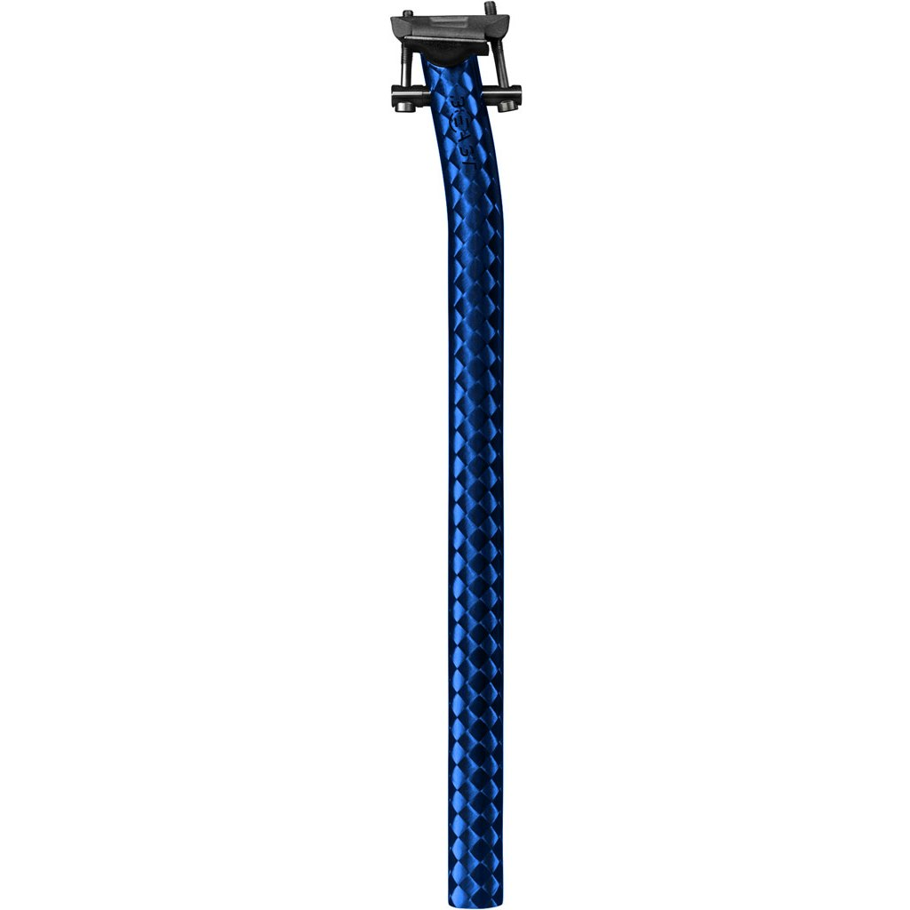 Beast Components Carbon Seatpost - Offset - 27.2mm - SQUARE blue
