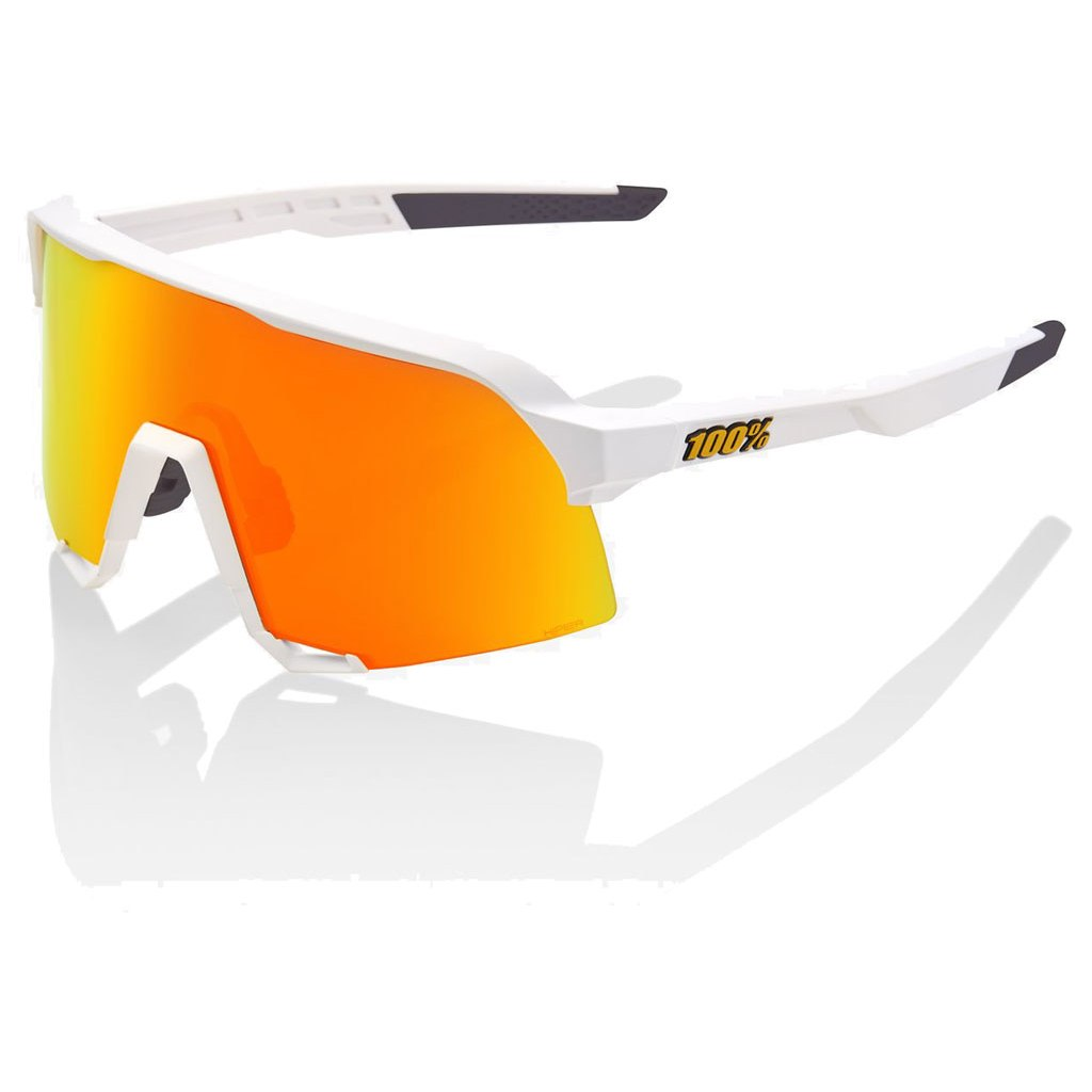 100% S3 HiPER Multilayer Mirror Lens Glasses - Soft Tact White