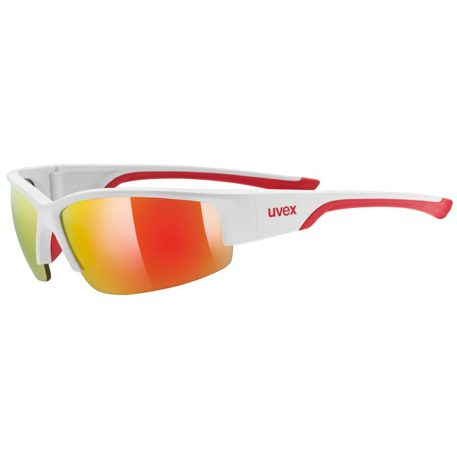 Uvex sportstyle 215 Glasses - white mat red/mirror red