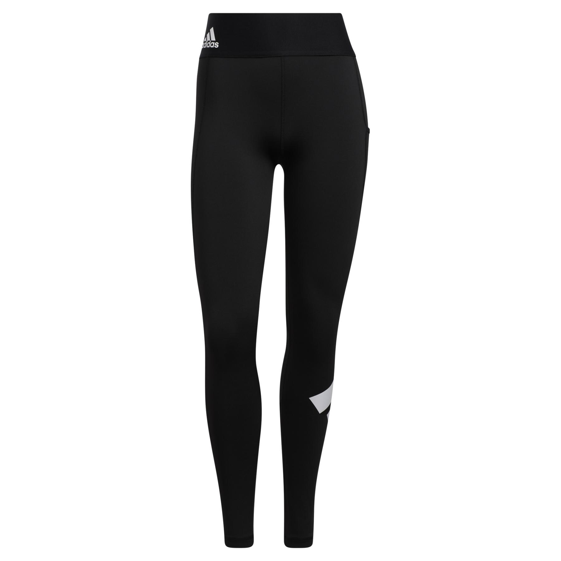 adidas Women's Techfit Logo Tights - Short - black/white GR8046