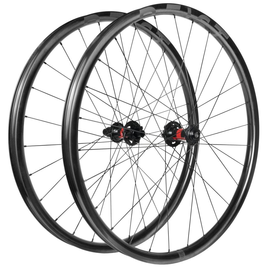 Beast Components XC30 29 Inch Carbon MTB Wheelset - 6-Bolt - FW: 15x110mm | RW: 12x148mm Boost - SRAM XD - UD black