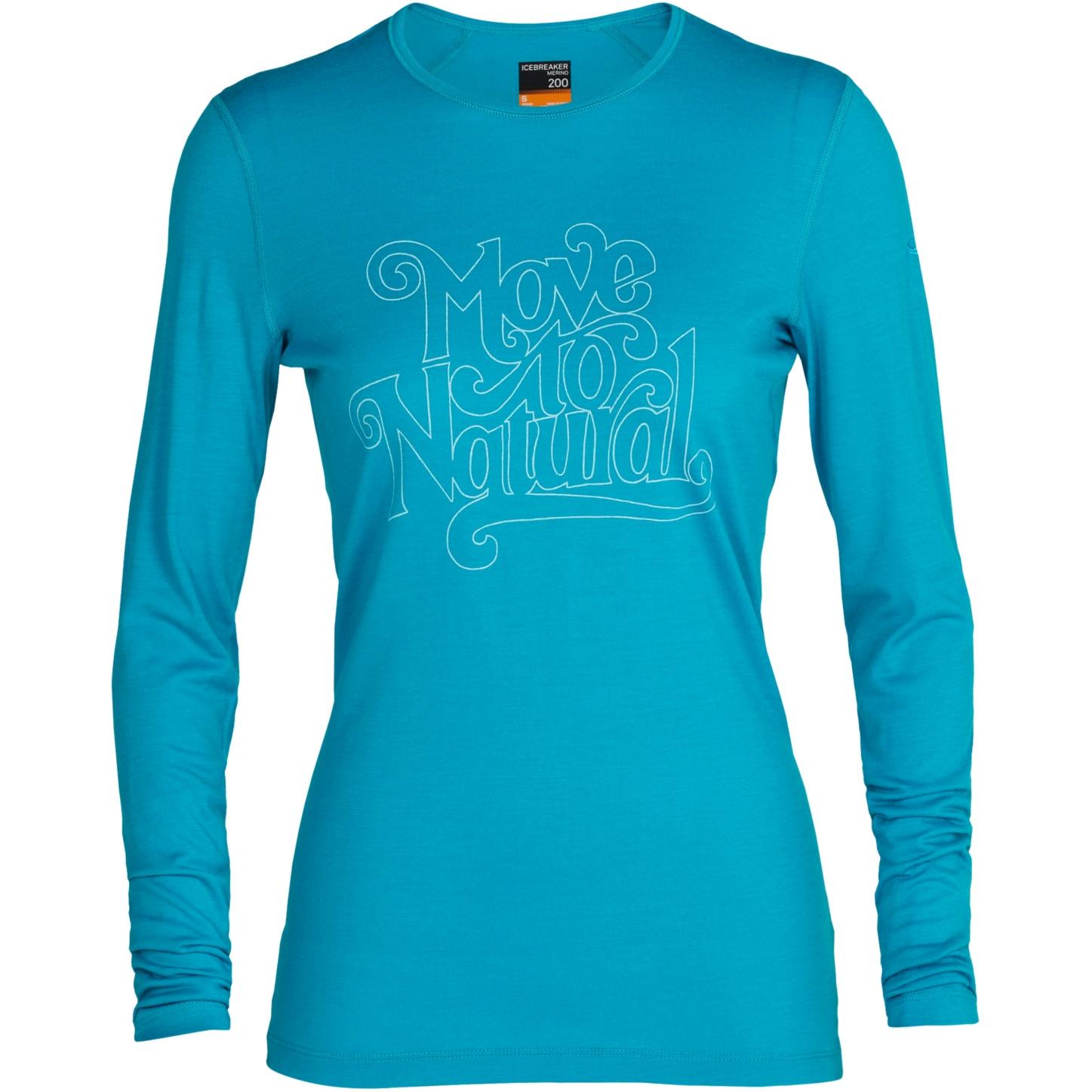 Produktbild von Icebreaker 200 Oasis Crewe Move to Natural Damen Langarmshirt - Arctic Teal