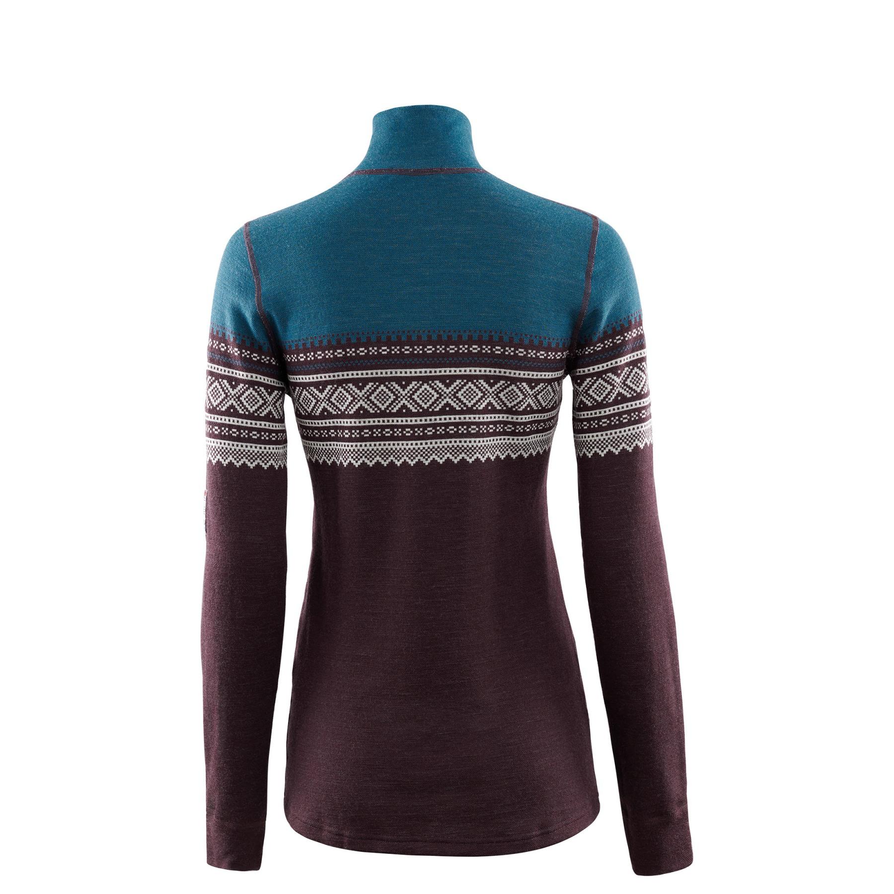 Image of Aclima Designwool Marius Mock Neck Women's Longsleeve Shirt with Zip - lifjell