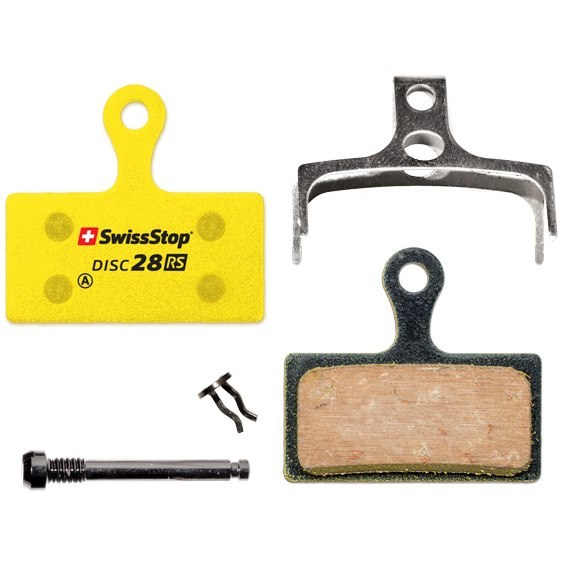 SwissStop Disc 28 RS Brake Pads for Shimano XTR / XT / SLX / Alfine / Deore / FSA K-Force / Afterburner / Rever MCX1