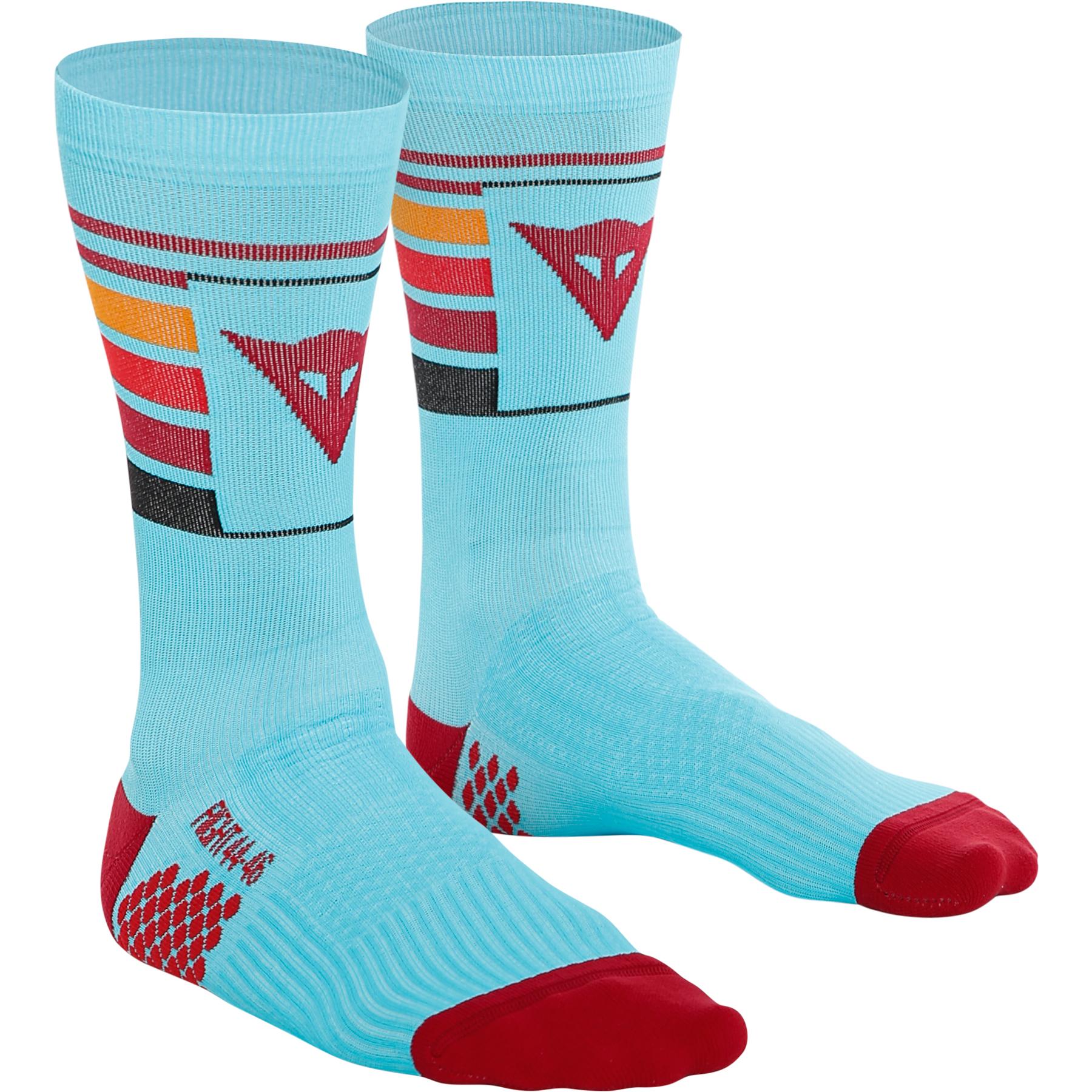 Dainese HG Hallerbos Socks Mid - light blue/red