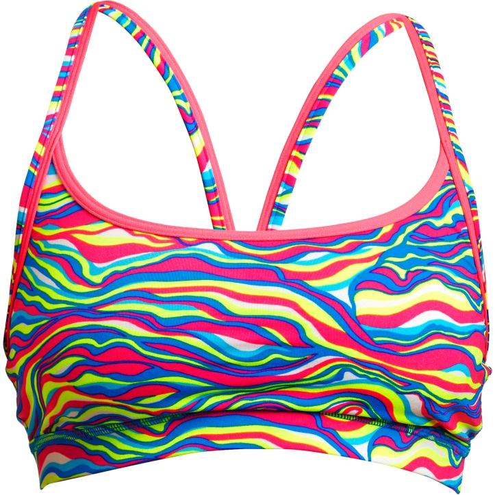 Funkita Ladies Eco Sports Bikini Top - Colour Curve